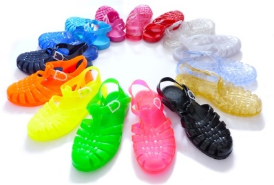 Jelly sandals available in all high street stores